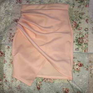 Pink asymmetrical skirt